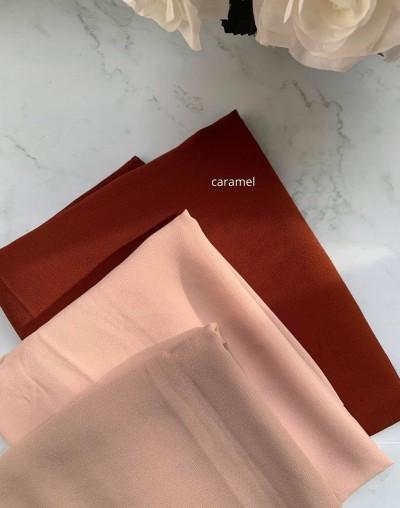 Hijab crepe caramel