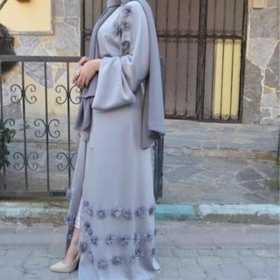 abaya gris